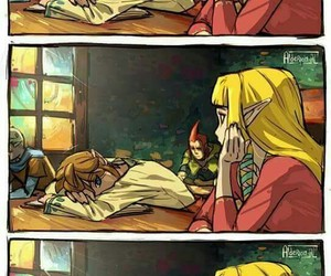 link, zelda, and video games image