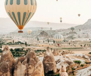 balloons, travel, and vintage image
