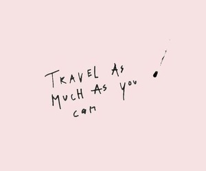 quotes, travel, and pink image