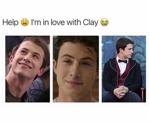 13, clay, and 13 reasons why image