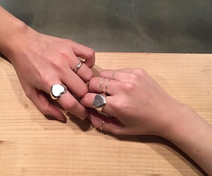 couple, hands, and rings image