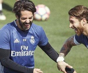 real madrid, smile, and sport image
