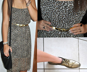 animal print, belt, and clothes image