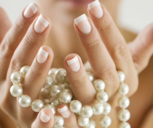 pearls, jewelry, and nails image
