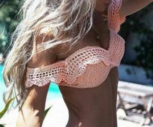 hair, pretty, and bikini image