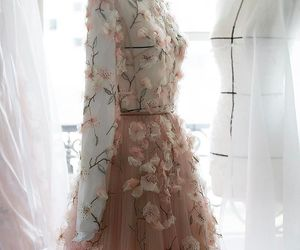 dior, dress, and flowers image