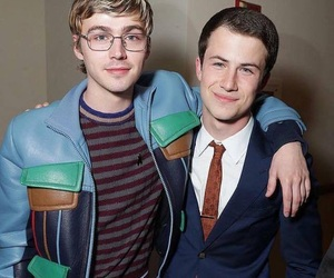 13 reasons why, dylan minnette, and miles heizer image