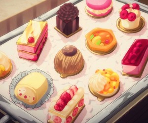 anime, dessert, and food image