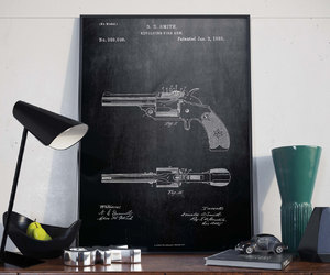 etsy, gun, and home decor image