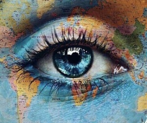 world, eye, and blue image