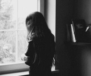 girl, window, and hair image