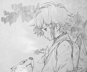 anime, boy, and sketch image
