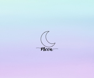 art, lovely, and moon image