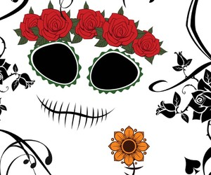 artsy, day of the dead, and stickers image