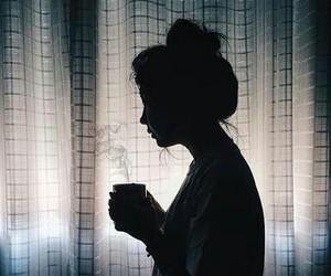 girl, tumblr, and coffee image