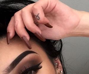 black, makeup, and brown image