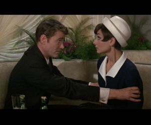 audrey hepburn, George Peppard, and how to steal a million image
