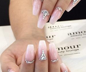 jewels, long nails, and nail art image
