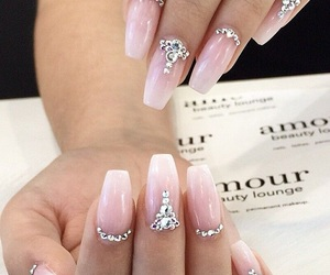 jewels, nail shape, and manucure image