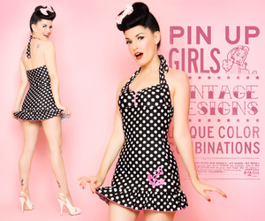 1950, 50's, and polka dots image