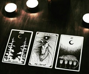 witch, tarot, and moon image