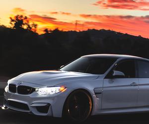 bmw, white, and car image