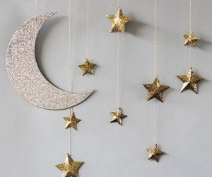 stars, moon, and glitter image