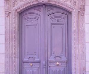 purple, door, and lavender image