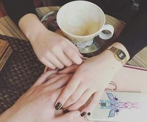 couple, love, and coffee image