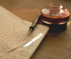 writing and vintage image