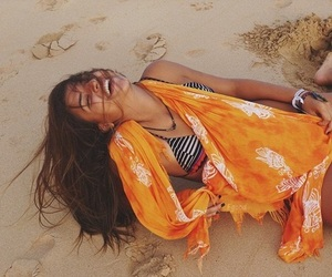 beach, bikini, and bright image