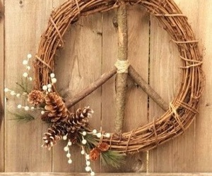corona, decorations, and rustic image