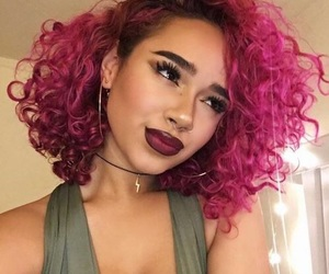 colorful hair, curls, and so beautiful image