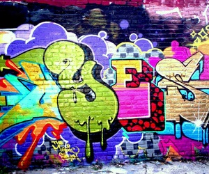 graffiti, yes, and art image