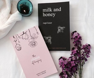 book, flowers, and milk and honey image