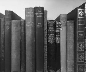 books, grey, and old image