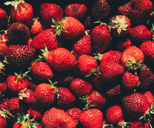 strawberry, fruit, and healthy image