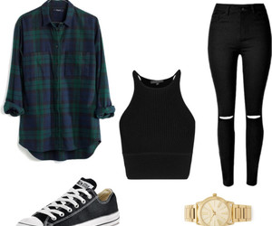 outfit, tumblr, and Polyvore image