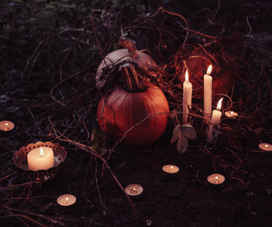 candles, Halloween, and spooky image