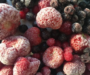 berries, food, and frozen image