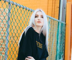beauty, white hair, and fashion image