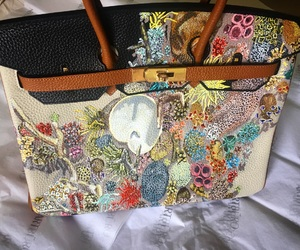 courtney mattison, custom hermes, and hand painted hermÈs image