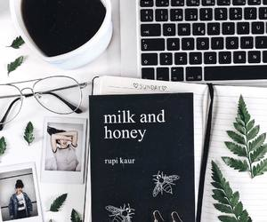 coffee, laptop, and milk and honey image