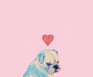 dog, wallpaper, and pink image