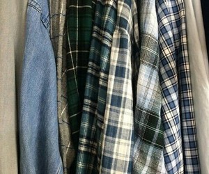 aesthetic, flannel, and shirt image