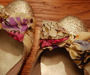 bow, glitter, and shoes image