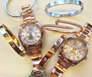 bracelet, rolex, and watch image