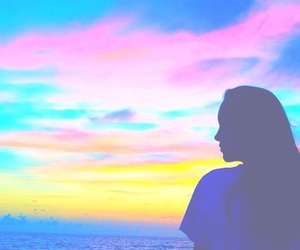 sunset, bright, and filter image