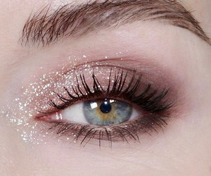 eye, glitters, and make-up image