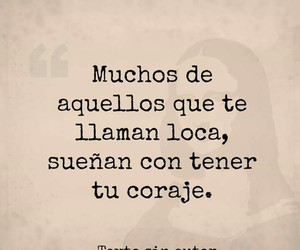 frases, mujer, and loca image